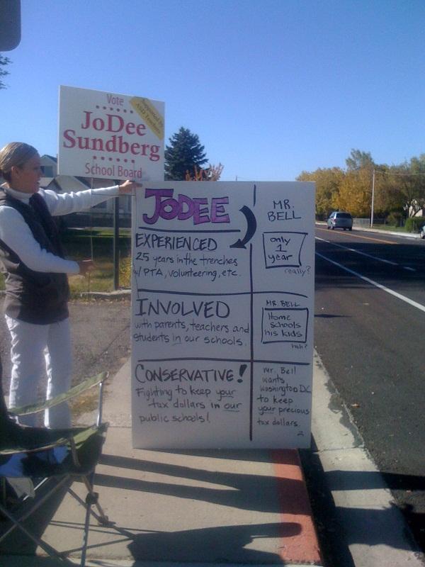 JoDee Sundberg Campaign Sign