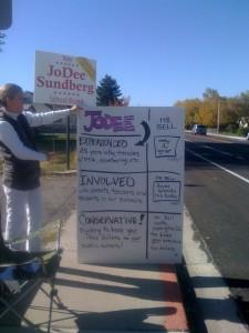 JoDee Sundberg Campaign Sign