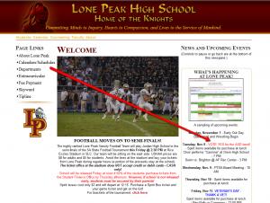 Lone Peak High School, ASD Election Violation